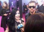 Amy e TIM no tapete rosa do EMA 2011