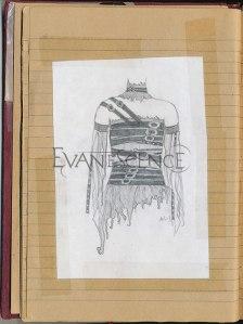 Desenho da roupa usada no clipe de Going Under