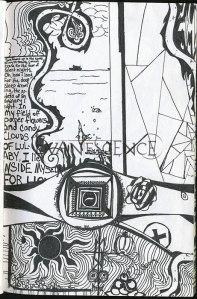 Letra da Imaginary com um desenho